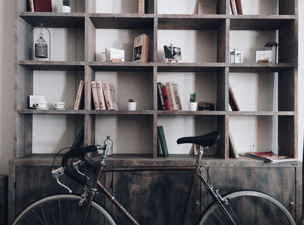 organised book shelf